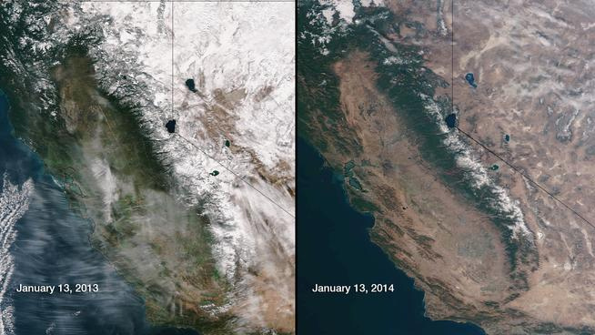 2013 vs. 2104 california map